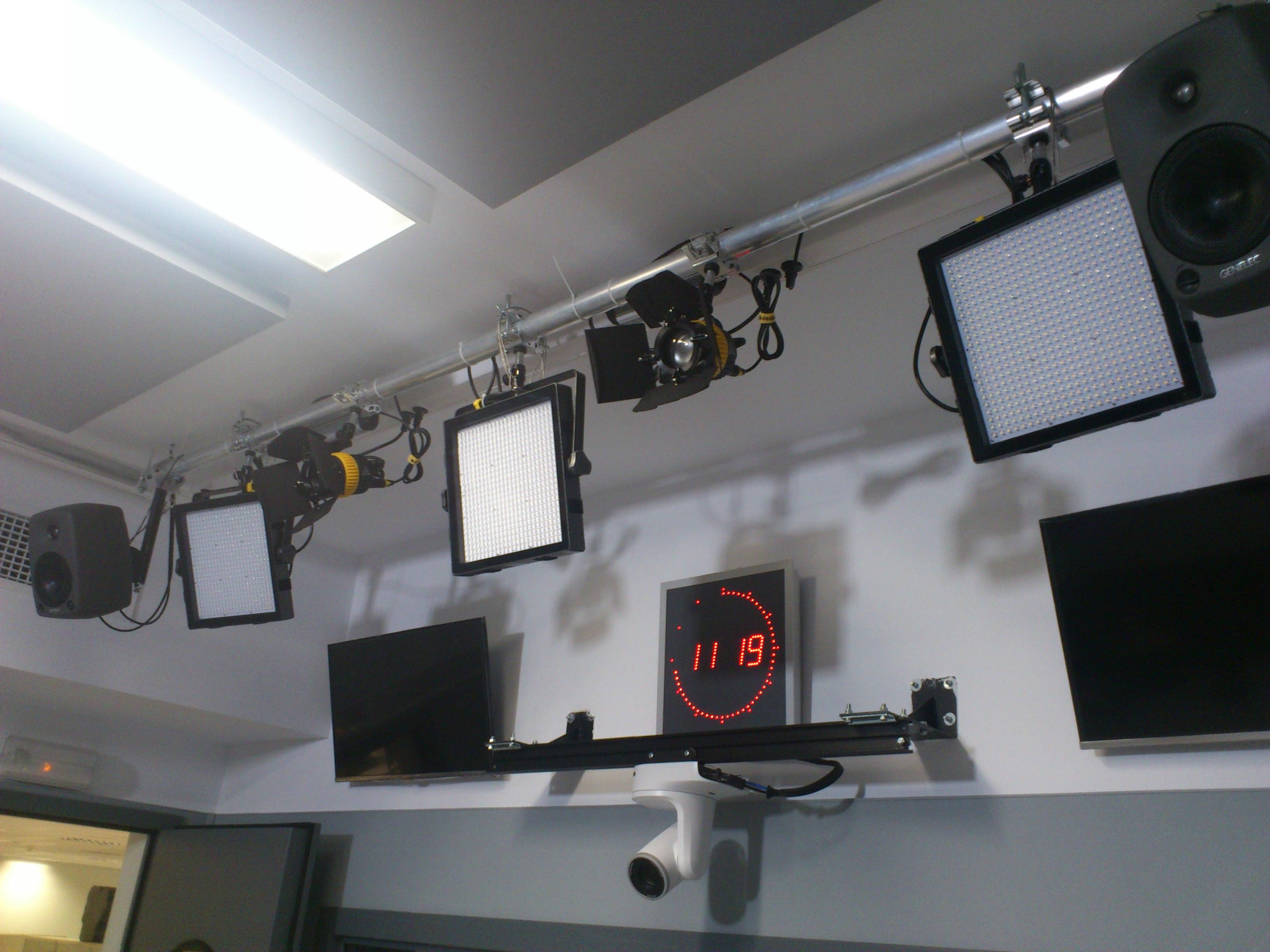 cámaras televisión estudio radio