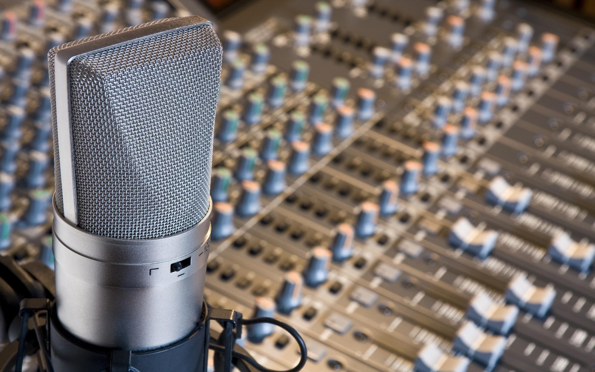 estudio radio micrófono