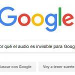 ¿Por qué el audio es invisible para Google?
