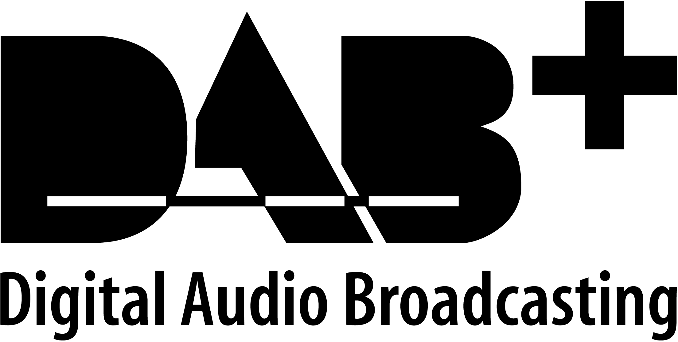 `logotipo dab+ digital audio broadcasting