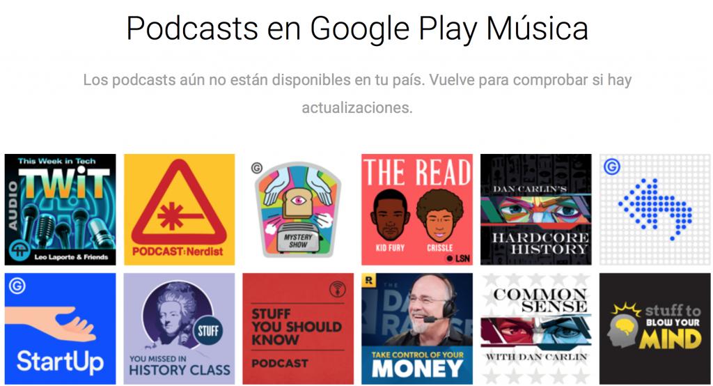 google play podcasts envío españa