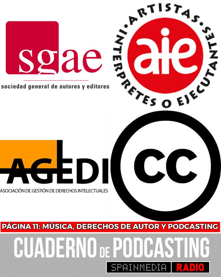 cuaderno de podcasting página 11 música derechos de autor podcasting sgae aie agedi creative commons