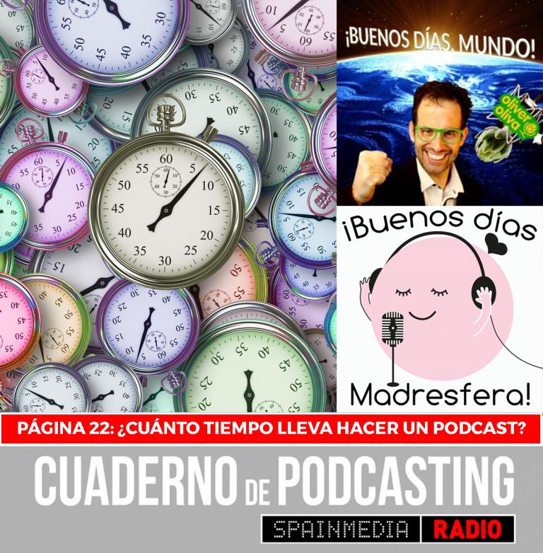 cuaderno de podcasting página 22 cuánto tiempo lleva hacer un podcast