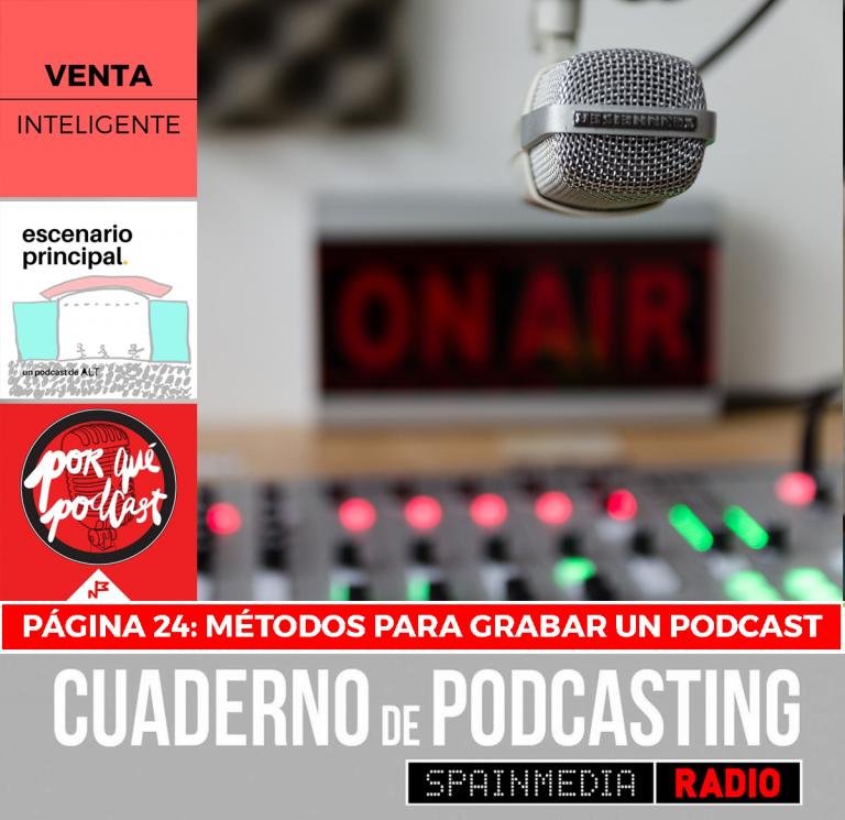 cuaderno de podcasting página 24 métodos para grabar un podcast