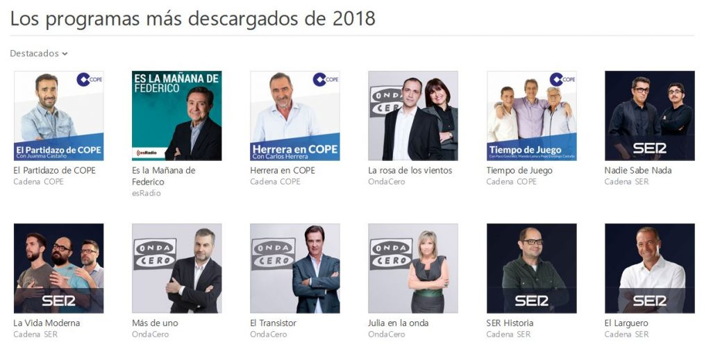 apple podcasts más descargados 2018