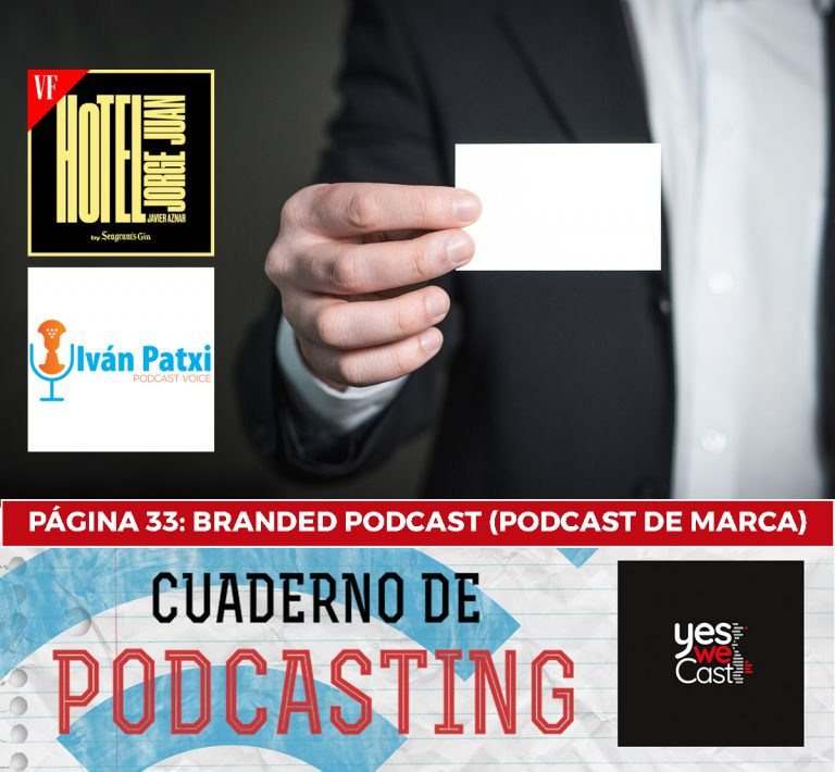 cuaderno de podcasting página 33 branded podcast marca