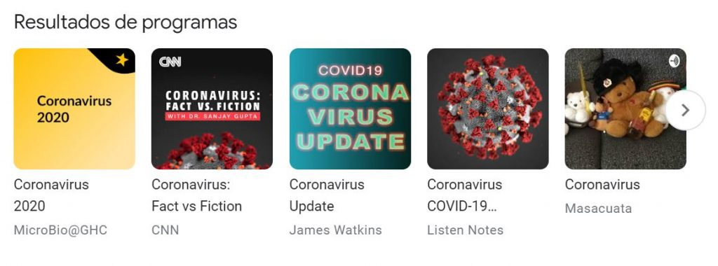 coronavirus podcasts