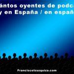 ¿Cuántos oyentes de podcasts hay en España / en español?